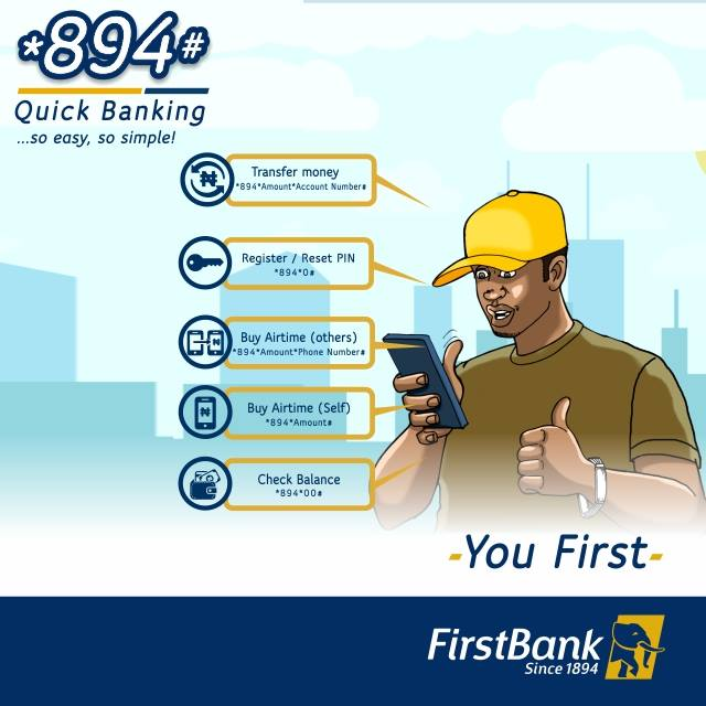 How to transfer money from first bank using USSD *894#