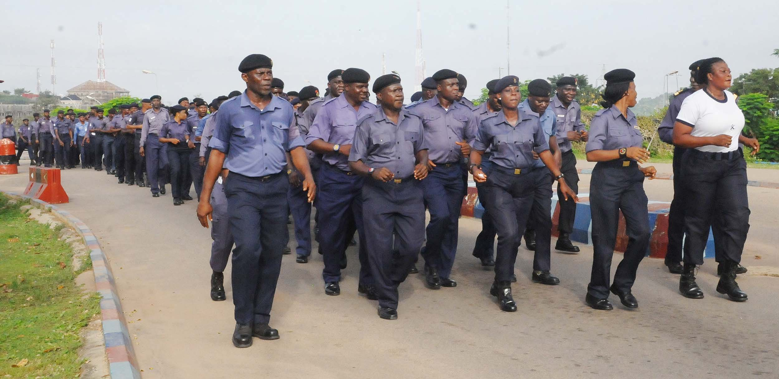 Nigeria Navy Recruitment: Men of the Nigerian Navy Exercise in this image released by the navy