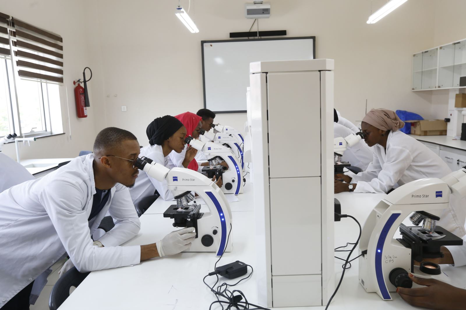 Top 10 Best Medical School In Nigeria: Medical Students of Nile University are seen in the lab in this photo by Nile University via Google