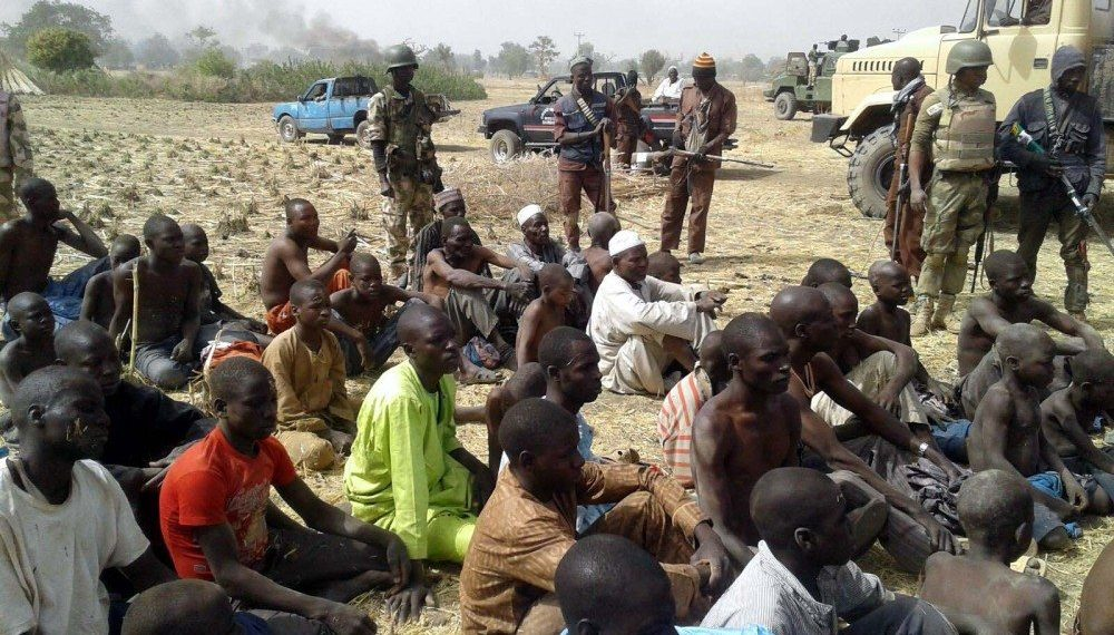 Alleged Boko haram members who resently surrendered to the Nigerian Army